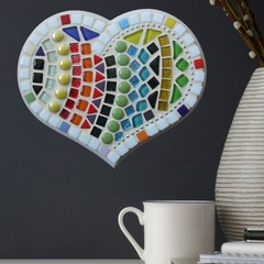 Mosaic Striped Delight Heart
