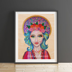Boho Goddess 8 x 10 Inches Print.