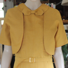 1930's Reproduction Sports Dress with Reversible Bolero