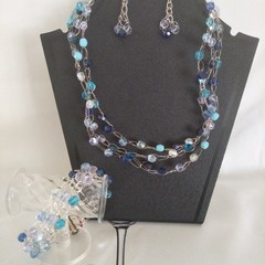 Silver & Blue Jewellery Set