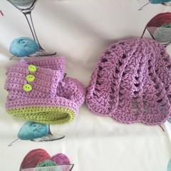 Garden Fairy Hat & Bootee Set