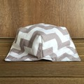 Microwave Bowl Holder - Grey Chevron
