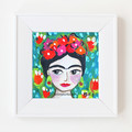 Frida in Green 8 x 8 Inches Print.