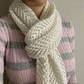 Hand knitted 100% Australian Merino Wool Ladies Scarf