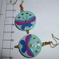 Butterfly earrings in blue