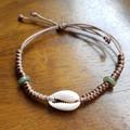COWRY SHELL - Bracelet - Natural Shell-Boho Hippie Style-Handmade-Jade