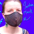 Women and Teen Tartan Mask