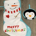 Christmas stocking - reindeer and ornament