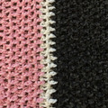 Baby blanket - hand crocheted - pink, grey and white