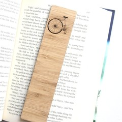 Bike Bookmark, Bamboo Bookmark, Birthday Gift, Book Lover, Reader Gift, For Him