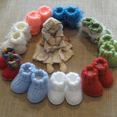 Hand knitted 'snuggly' boots