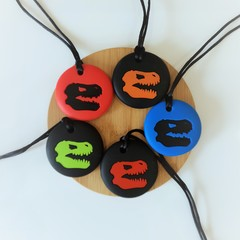 Dino Chewable Silicone Necklace
