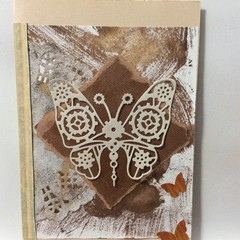 Cream butterfly card