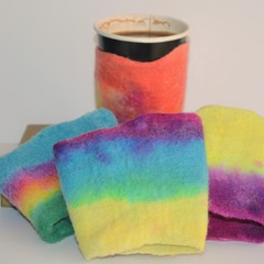 Hand Felted Takeaway Drink Cozy