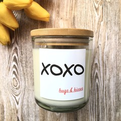 "Gift: ""XOXO"" Soy Candle - 27 choices of fragrance 