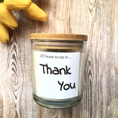 Thank You Soy Candle - your own fragrance