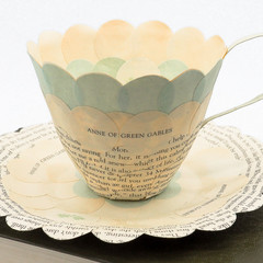 Anne of Green Gables teacup - teacup made from book pages - literary curio