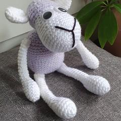 """Dolly"" Handmade Crochet Sheep Toy"