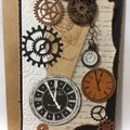 Cogs and clocks card
