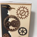 Cogs and buttons blank card