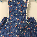 100% organic cotton Sunsuit suit with cross over straps