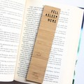 Fell Asleep Here Bookmark, Bamboo Bookmark, Pun Gift, Birthday Gift, Book Lover