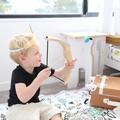 Handmade Childs Archery Set with Bow & Arrow and bullseye target..