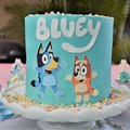 Bluey Bingo and logo Edible Icing Cake Topper Set PRE CUT #726