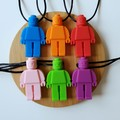 Lego Man chewable  silicone necklace
