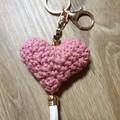 Crochet Keyring Heart
