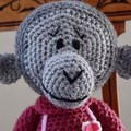 May the hand crocheted Chimp / Monkey - girl, washable, OOAK by CuddleCorner