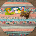 Tummy Time Mat /  Baby Play Mat / Reversible / Organic Material