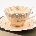 Pride and Prejudice teacup - teacup made from book pages - literary curio