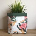 CUSTOM ORDER VICTORIA | Small fabric planter set
