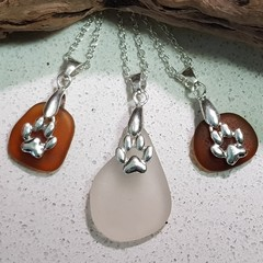 Seaglass - Pet Paw Necklaces