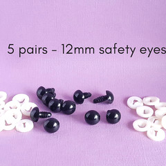 12mm safety eyes, black bear doll making safety eyes, crochet, amigurumi, sewing