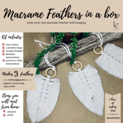 DIY Macrame Feather Kit - Make your own macrame feathers