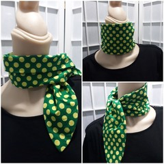 Ruby Pocket  Scarf Emerald with lime spot