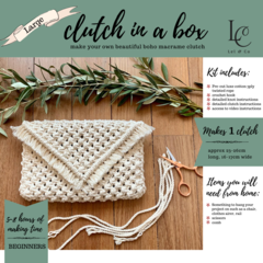 DIY Large Macrame Clutch Kit - Make your own Clutch
