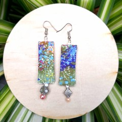 Painted Dangle Earrings