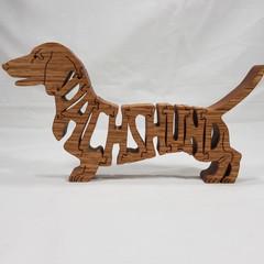 Daschund (Short Hair) - Woodimal - Handcut Premium Wooden Puzzle