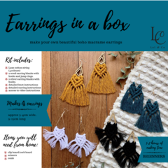 DIY Macrame Earrings Kits - TEAL KIT