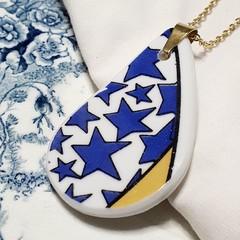 Large Blue Star Pendant