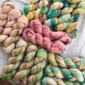 4ply handdyed Australian merino/nylon sock  390m 100g (honeymoon bay)
