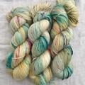 4ply handdyed Australian merino/nylon sock  390m 100g (fairy bread+bubblegum)