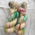 4ply handdyed Australian merino/nylon sock  390m 100g (fairy bread)