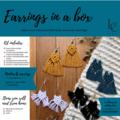DIY Macrame Earrings Kits - TEAL KIT