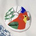 Red Parrot Brooch
