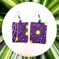 Indigenous Fabric Dangle Earrings
