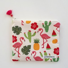 Zipper Pouch - Fruity Flamingo